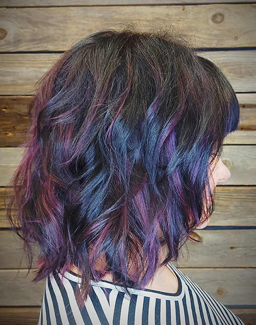 Puolipitkät hiukset | Multicolor Hair